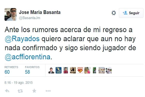 Con Rayados, aún nada confirmado: Basanta