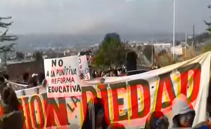 CNTE se manifiesta en La Piedad