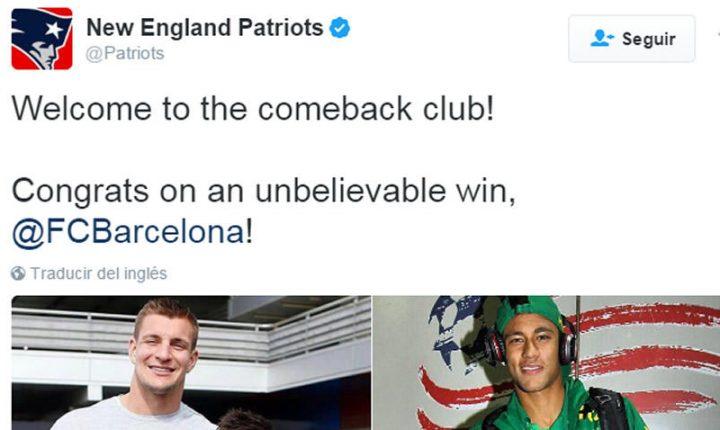 Bienvenidos al club de las remontadas: Patriots a Barça