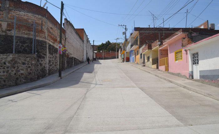 Concluyen obras de pavimentación en la Lienzo Charro