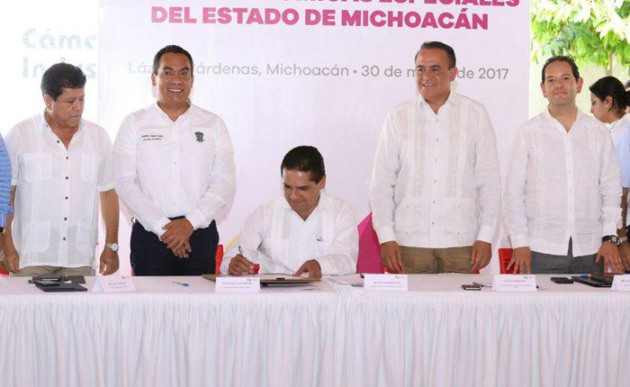 Promulgan ley de Zonas Económicas Especiales de Michoacán