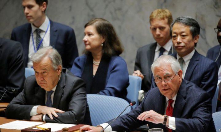 Tillerson pide a la ONU más presión a Corea del Norte