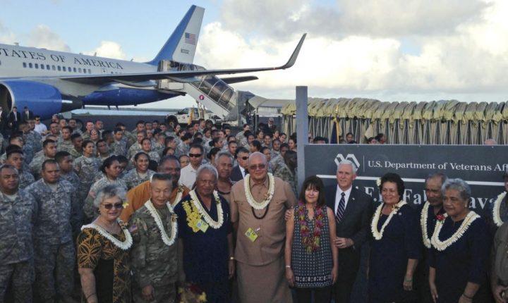 Pence habla a soldados estadounidenses en American Samoa