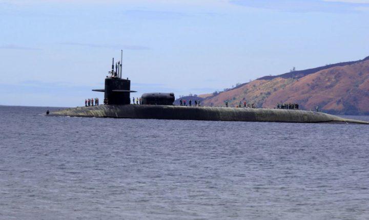 Submarino nuclear estadounidense llega a Corea del Sur