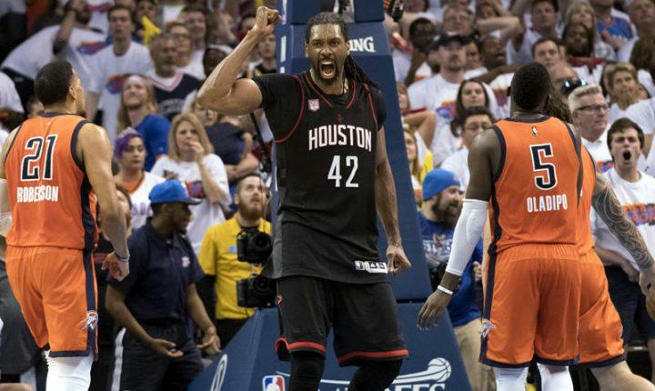 Rockets, a un juego de eliminar al Thunder de Westbrook