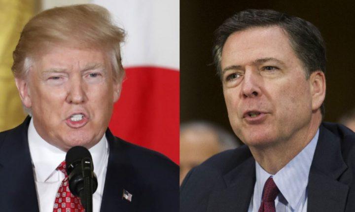 """Trump sugiere existencia de """"cintas"""" de cena con Comey"""