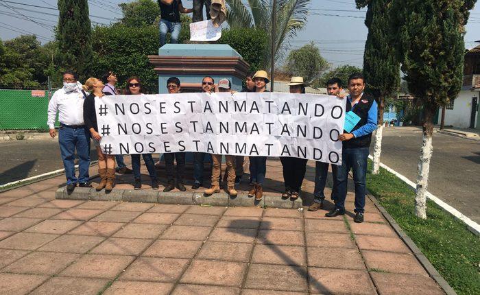 Con marcha, claman por la vida de Salvador Adame