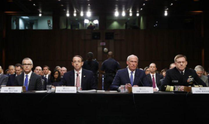 Jefes de Inteligencia se niegan a discutir contactos con Trump