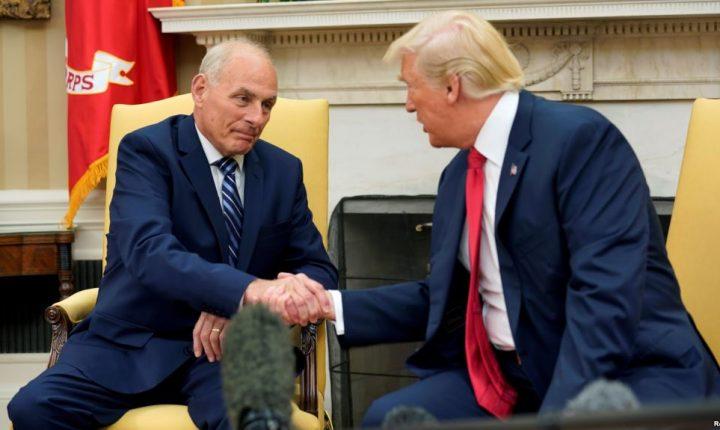 John Kelly presta juramento como jefe de Gabinete de la Casa Blanca