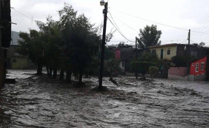 Desborde de río en Tarímbaro causó afectaciones en 10 casas: PC