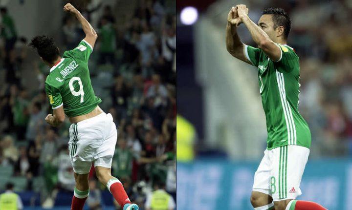 Marco Fabián y Raúl Jiménez compiten por Mejor Gol de Confederaciones