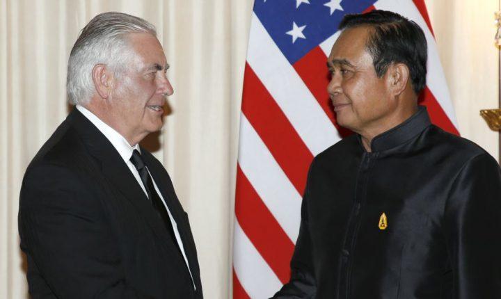 Tillerson presiona a Tailandia por sanciones a Corea del Norte