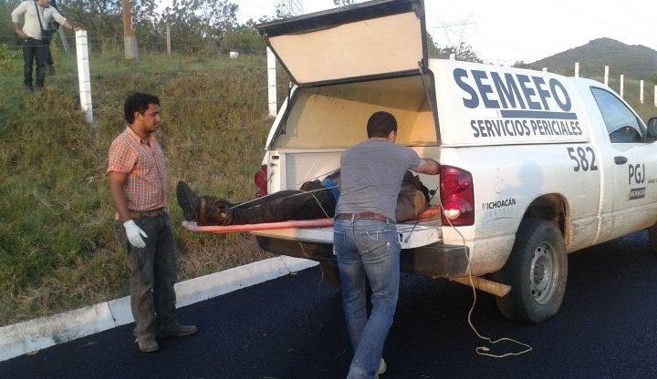 Abandonan 4 cuerpos en carretera de Michoacán